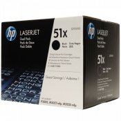 HP 51X Svart Toner 2-Pack (Original HP)